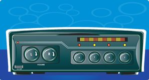 Car stereo with radio. Illustration of Car stereo with radio royalty free illustration