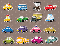 Car stickers. Cartoon vector illustration Royalty Free Stock Image