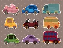 Car stickers. Cartoon vector illustration Stock Photography