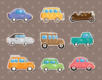 Car stickers. Cartoon vector illustration Royalty Free Stock Photo