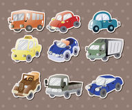 Car stickers. Cute cartoon vector illusttration Stock Images