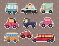Car stickers. Cute cartoon vector illusttration Stock Image