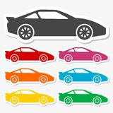 Car stickers set Royalty Free Stock Photo