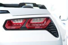 Car Stop Lights. Modern Convertible Rear Light Car Closeup Stock Photo