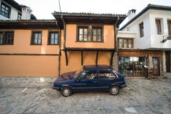 The car on the street of old Plovdiv in Bulgaria Stock Photos