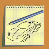 Car strokes background. Royalty Free Stock Photography