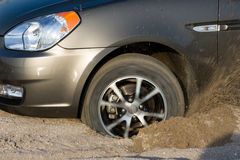 Free Car Stuck In Sand Royalty Free Stock Photography - 9213657