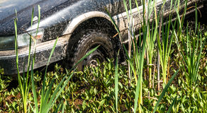 Car stuck in the mud Stock Images