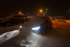 Car stuck in the snowbank Stock Photography