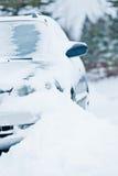 Car Stuck after a Snowstorm Stock Images