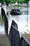 A car stuck in the water Royalty Free Stock Photo