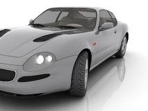 Car in studio isolated. [with clipping path Stock Photo