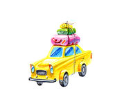 Car with suitcases, for travel. Ers Royalty Free Stock Images