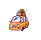Car with suitcases, for travelers. Car with suitcases, for travel Stock Photo