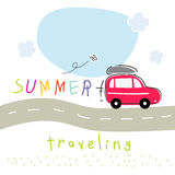 Car summer vacation travel Royalty Free Stock Images