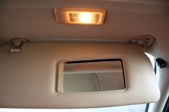 Car sun light protection visor Stock Images