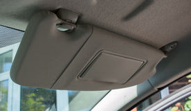 Car Sun Visor Stock Photo
