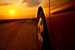 Car Sunset Stock Images