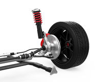 Car suspension isolated on white background. 3D rendering Stock Photo