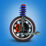Car suspension separately from the car 3d illustration. Car suspension separately from the car Royalty Free Stock Photo