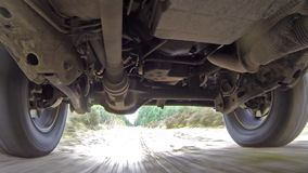 Car suspension system for reducing vibration when driving. High Definition stock video