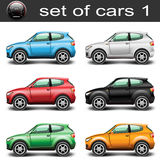 Car SUV. Icons Car SUV of different colors on a white background. illustration stock illustration