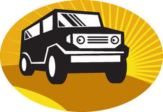 Car suv road travel front Royalty Free Stock Image