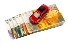 Car on swiss franc Stock Image