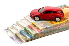 Car swiss franc Royalty Free Stock Photography