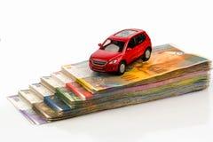 Car on swiss franc Stock Photos