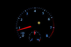 Car tachometer with bright dial Royalty Free Stock Photo