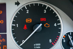 Car tachometer. Close-up of an illuminated car tachometer Stock Images