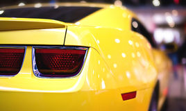 Car Tail Light. Yellow Sports Car Tail Light Royalty Free Stock Photography