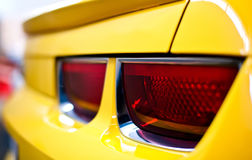 Car Tail Light. Yellow Sports Car Tail Light Stock Photo