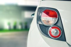 Car tail light red color for customers. Royalty Free Stock Photo