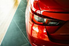 Car tail light red color for customers royalty free stock photos