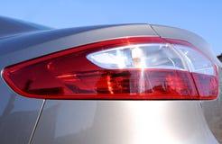 Car tail light Renault. Closeup detail of a car's tail light (brake light) - renault fluence Royalty Free Stock Photo