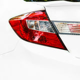 Car tail light on a sedan Stock Photo