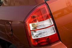 Car tail lights Stock Images