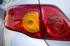 Car tail lights Royalty Free Stock Photos
