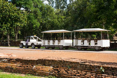 Car for take tourists at Srisatchanalai historical park in Sukho Stock Photo