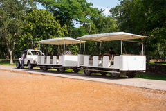 Car for take tourists at Srisatchanalai historical park in Sukho Royalty Free Stock Photos
