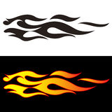 Car tattoo4. Tribal flames illustration for car decal or stickers Royalty Free Stock Image