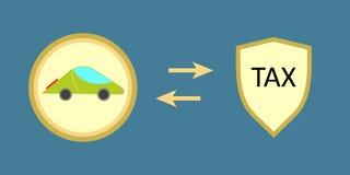 Car tax icon vector Royalty Free Stock Photos