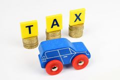 Car Tax Royalty Free Stock Photography