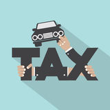 Car Tax Typography Design. Vector Illustration Stock Images