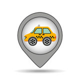 Car taxi icon map pointer graphic Royalty Free Stock Photography