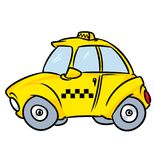 Car taxis cartoon illustration Royalty Free Stock Image