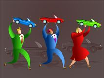 Car team Stock Photography