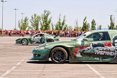 Car team Round-X stylized military subjects Stock Images